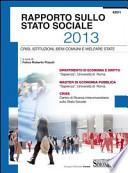Rapporto stato sociale 2013