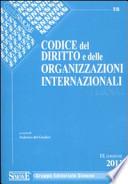 Codice del diritto e delle organizzazioni internazionali