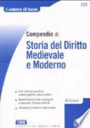 Compendio di storia del diritto medievale e moderno