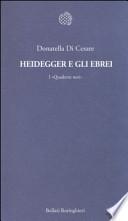 Heidegger e gli ebrei. I Quaderni Neri