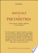 MANUALE DI PSICOMETRIA.
