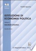 ISTITUZIONI DI ECONOMIA POLITICA - VOLUME II - MACROECONOMIA - II EC.