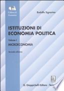 ISTITUZIONI DI ECONOMIA POLITICA - VOLUME I - MICROECONOMIA - II ED.