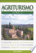 agriturismo in italia e in europa 2007