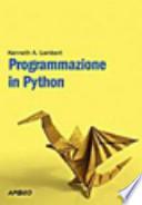 Programmazione in Python di Kenneth A. Lambert