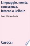 Linguaggio, mente, conoscenza intorno a Leibniz