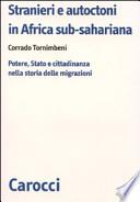 Stranieri e autoctoni in Africa sub-sahariana
