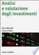Analisi e valutazione degli investimenti