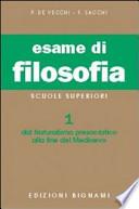 ESAME DI  FILOSOFIA VOL.1