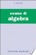 ESAME DI ALGEBRA
