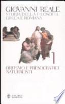 Storia della filosofia greca e romana vol 1 Orfismo e presocratici naturalisti
