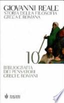 Storia della filosofia greca e romana vol 10 bibliografia dei pensatori greci e romani