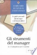 Gli strumenti del manager. Le 13 competenze per il successo