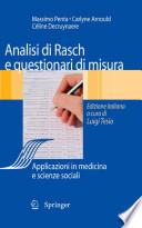 Analisi di Rasch e questionari di misura - Applicazioni in medicina e scienze sociali