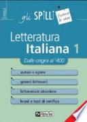 Letteratura italiana Dal origini al Quattrocento