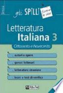 Letteratura italiana. Vol. 3: Ottocento e Novecento.