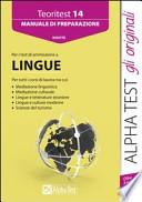 Manuale di Preparazione (Per i Test di Ammissione a Lingue)