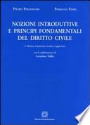 Nozioni introduttive e principi fondamentali del diritto civile