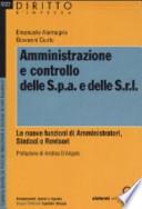Amministrazione e controllo delle S.p.a e delle S.r.l.