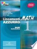 MATH 1 - LINEAMENTI AZZURRO + PALESTRA INVALSI PER LA SIMULAZIONE DELLA PROVA
