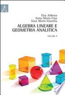 Algebra lineare e geometria analitica: volume 2