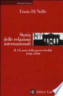 Storia delle relazioni internazionaliStoria delle relazioni internazionali