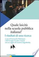 QUALE LAICITà NELLA SCUOLA PUBBLICA ITALIANA? I risultati di una ricerca