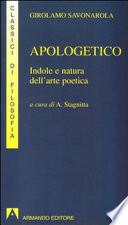 Apologetico indole e natura dell'arte poetica