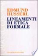 LINEAMENTI DI ETICA FORMALE