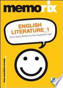 English literature. From early britain to the augustan age. Ediz. italiana. Vol. 1