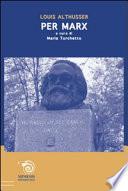 Per Marx A cura di Mario Turchetto