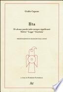 RTA - Di alcune parole indo-europee significanti Dritto Legge Giustizia
