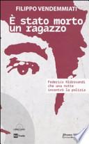 E' STATO MORTO UN RAGAZZO libro+dvd