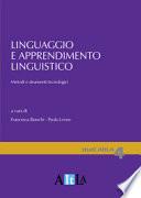Linguaggio e apprendimento linguistico