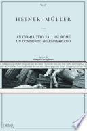 Anatomia di Tito Fall of Rome un commento shakespeariano seguito da Shakespear una differenza