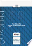 NOVITA' DELLA LEGGE DI STABILITA' 2016