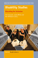 Disability Studies: Educating for Inclusion cover, grey and yellow, with image of people and white and orange text