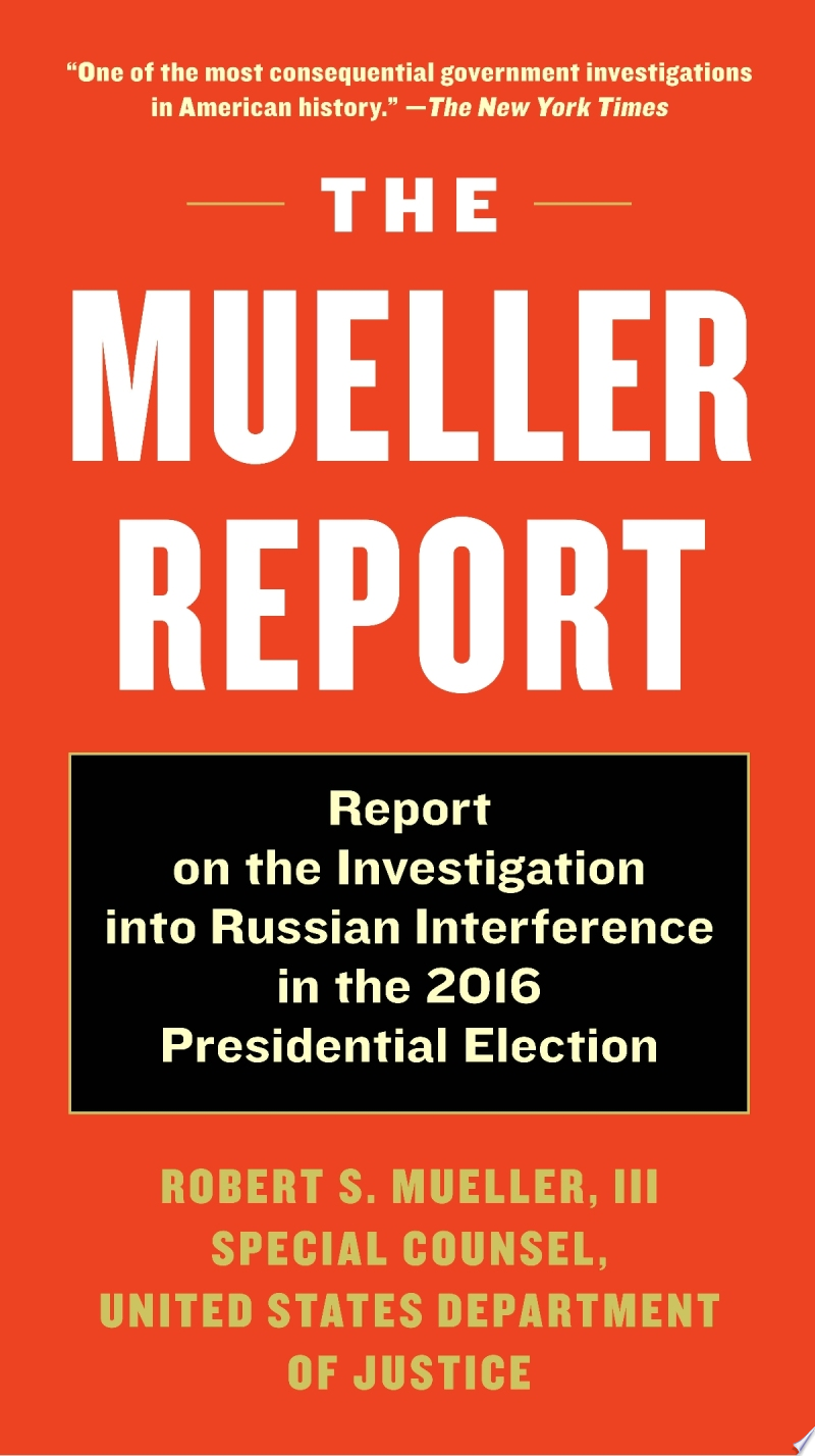 The Mueller Report banner backdrop