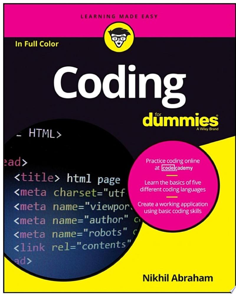 Coding For Dummies banner backdrop