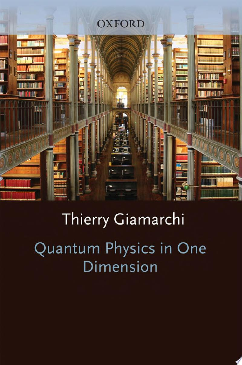 Quantum Physics in One Dimension banner backdrop