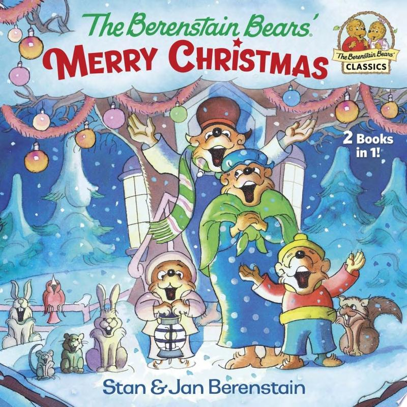 The Berenstain Bears' Merry Christmas banner backdrop