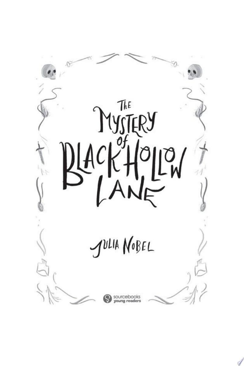 The Mystery of Black Hollow Lane banner backdrop