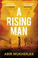 A Rising Man banner backdrop