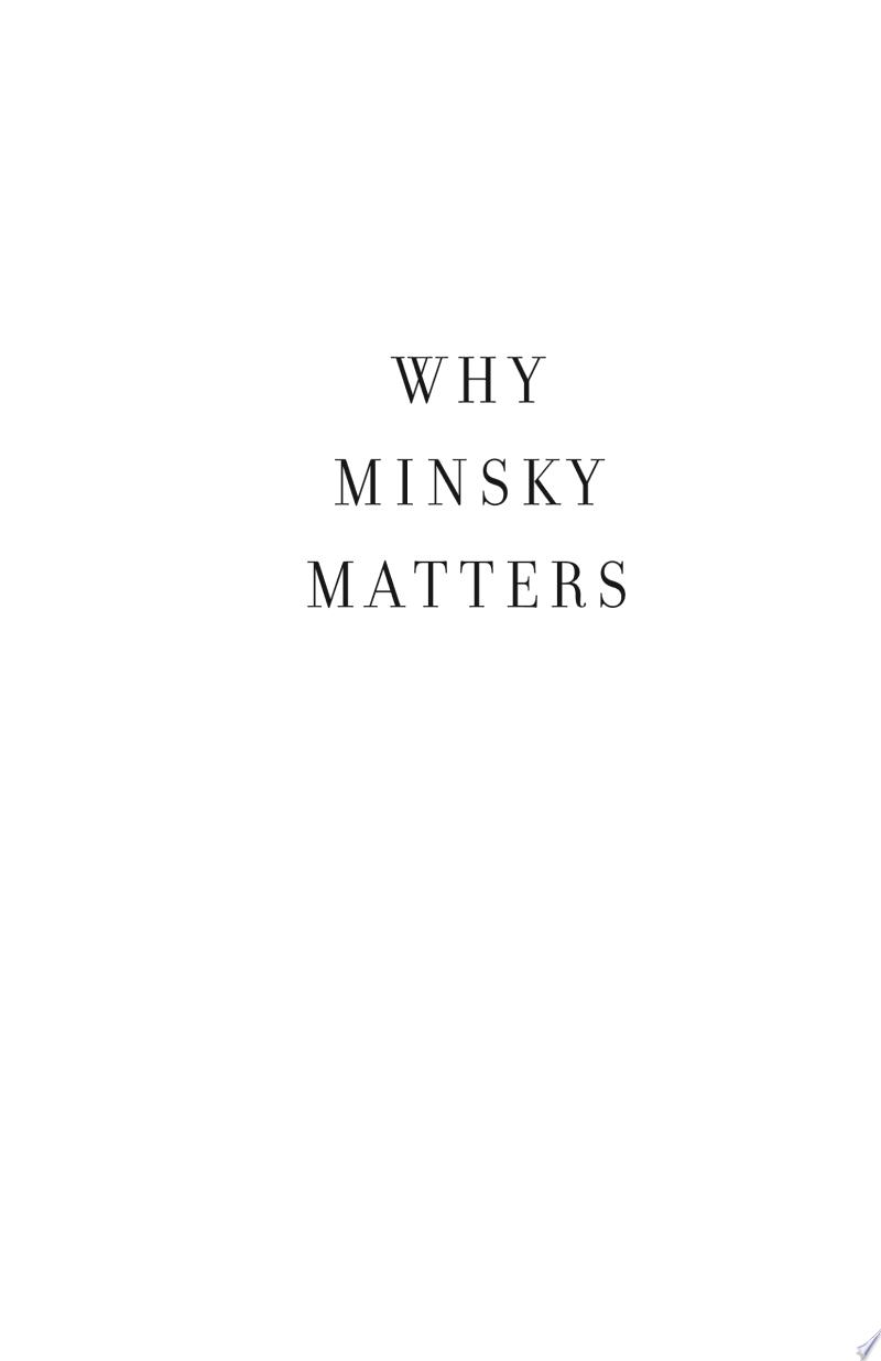 Why Minsky Matters banner backdrop