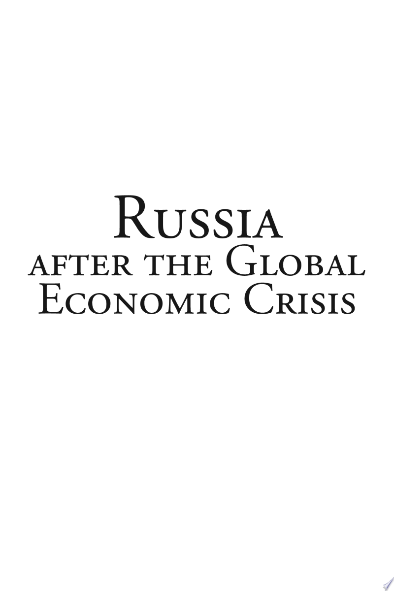 Russia After the Global Economic Crisis banner backdrop