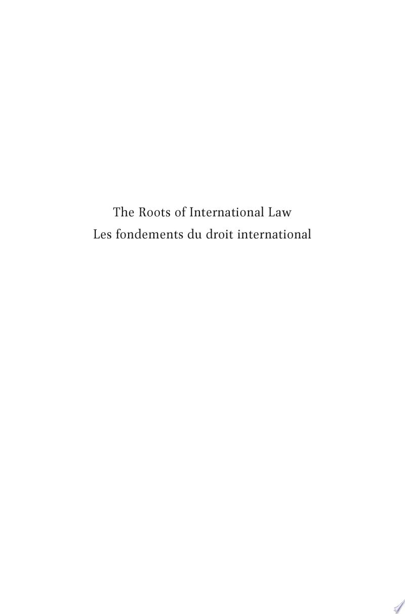 The Roots of International Law / Les fondements du droit international banner backdrop