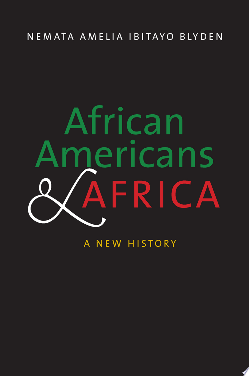 African Americans and Africa banner backdrop