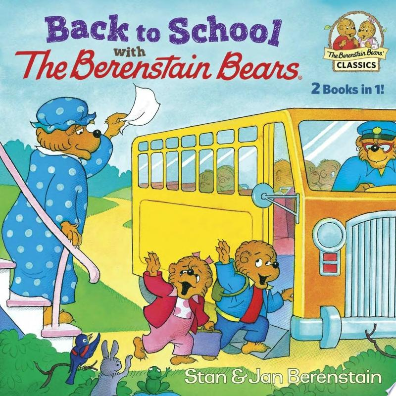 Back to School with the Berenstain Bears banner backdrop