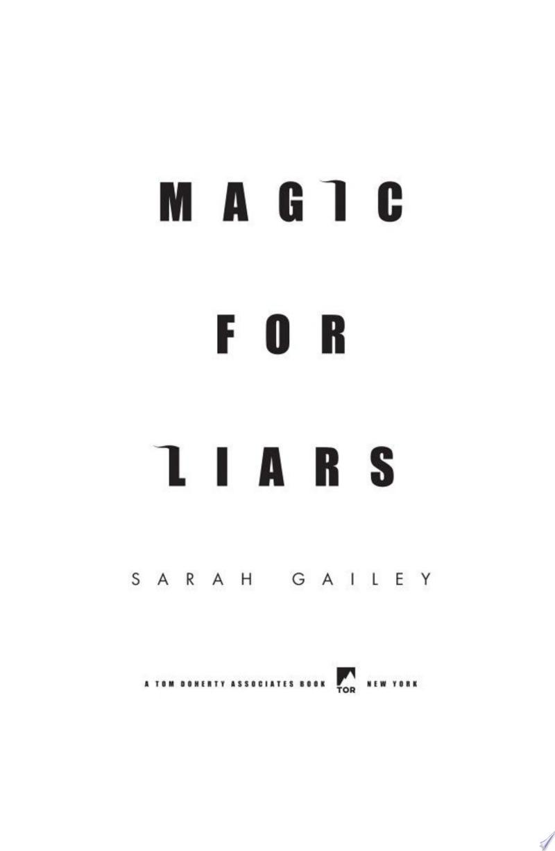 Magic for Liars banner backdrop