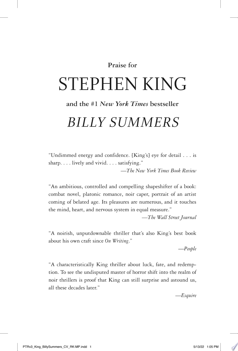 Billy Summers banner backdrop
